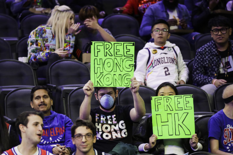Video: Couple Is Removed From NBA Game For Supporting Hong Kong Protesters
