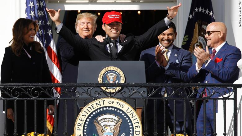 Watch: World Series Champion Baseball Team Crushes Left-Wing Narrative And Surprise Trump With An Amazing Gift