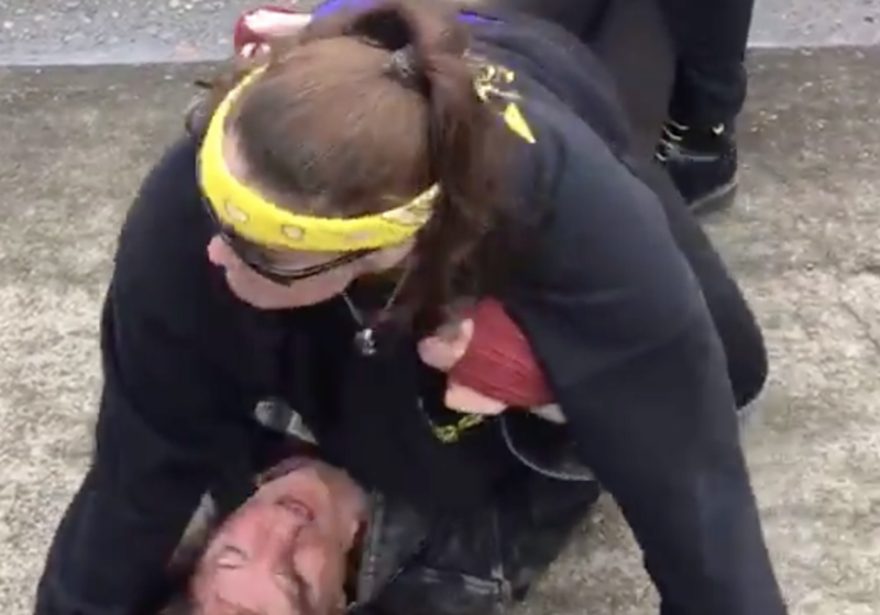Video: MMA Fighter And Trump Supporter Protects Women At Rally When An Enraged Liberal Physically Assaults Her