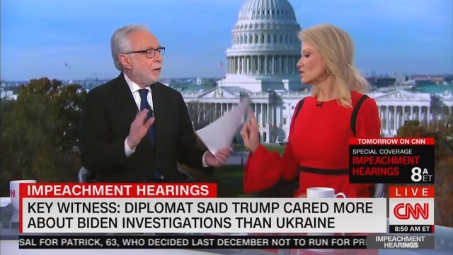 Watch: KellyAnne Conway Dismantles CNN's Wolf Blitzer After Comment About Her Marriage