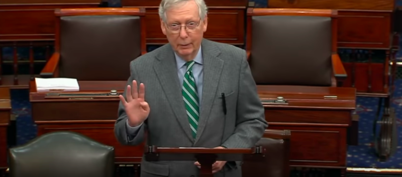 Watch: McConnell Teaches Dems A Historical Lesson After Childish Celebratory Signing