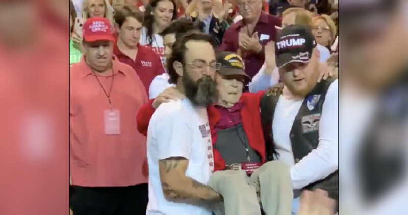 Dems Say Honoring Of WWII Veteran At Trump Rally Was Tied To White Supremacists