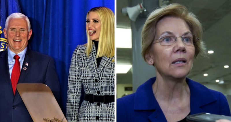 Watch: After Warren's Cringe Worthy Campaign Stop Ivanka and VP Pence Show Her How's It's Done