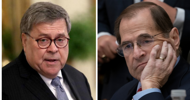 Developing: Recent Scoop From AG Barr About Ukraine Investigation Has Nadler Sweating Bullets