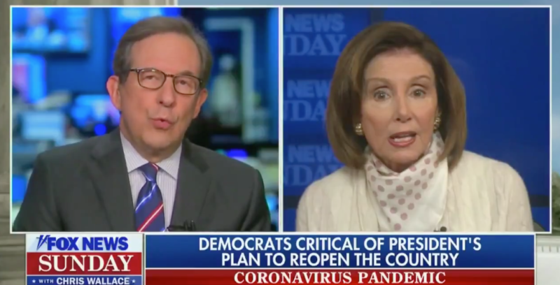 Watch: Pelosi Winces & Goes Speechless When She's Nailed Over Her Coronavirus Lies
