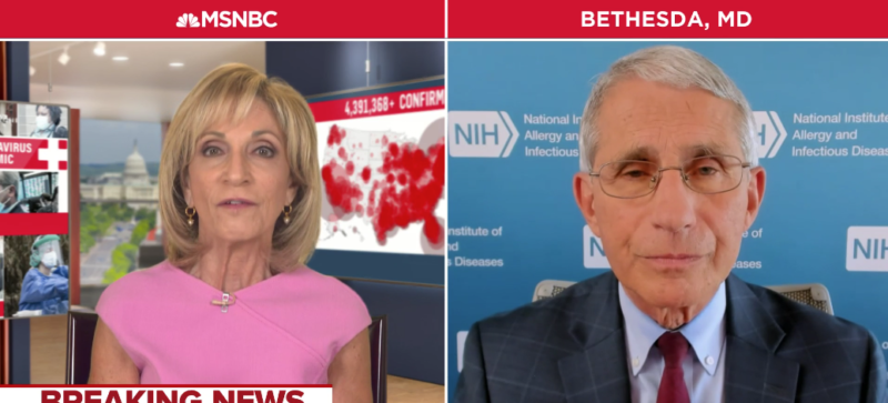 Watch: Fauci Joins Big Tech In Silencing Conservatives Over Coronavirus Treatment Claims