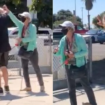 Watch: Woman Peppers Spray Man For Not Wearing A Mask Outside