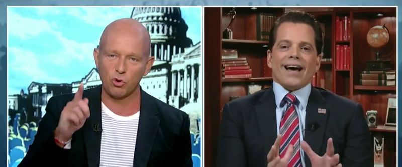 WATCH: Anthony 'The Mooch' Scaramucci Gets Taken Apart & Trump Was Watching