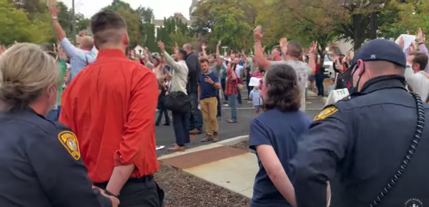 COVID-1984 USA: Mother Tased and More Churchgoers Arrested For Daring To Defy Restrictions (VIDEO)