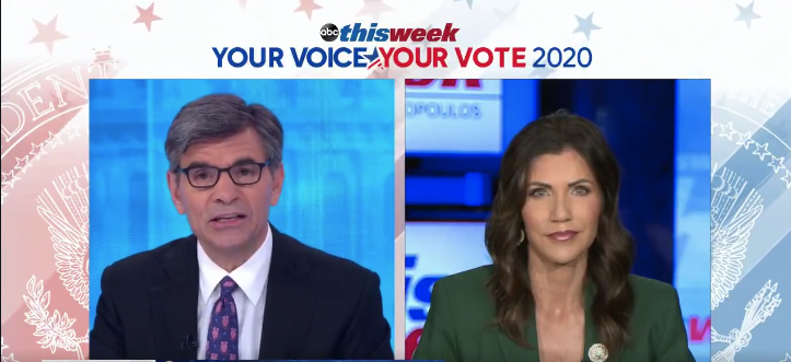 Sen. Romney & ABC's George Stephanopoulos Learn The Hard Way, Don't Mess With Gov. Kristi Noem