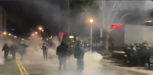 Biden's America: Anti-Police Protest Gets Ugly, Roads Barricaded and Buildings Smashed (VIDEO)