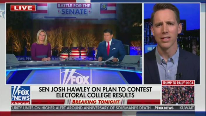 Watch: Fox News Host Is Clueless About The Constitution Humiliates Himself Trying To Ambush Senator Hawley Over Electoral College Vote