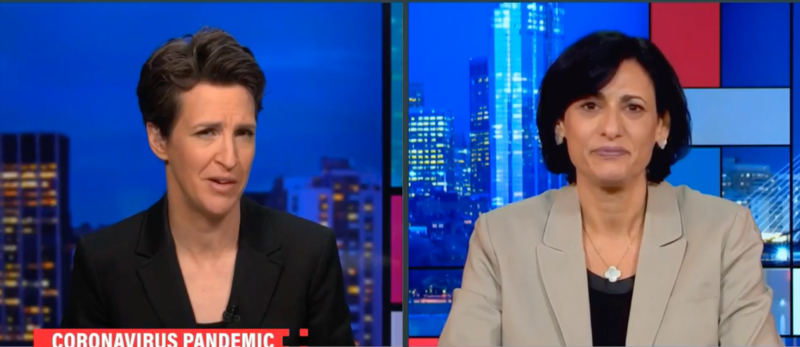 Watch: After Declaring We Are Headed For 'DOOM' CDC Head Slips Showing Off For Maddow Shows Data That Fauci Is Wrong About Masks