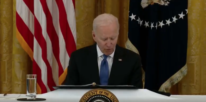 So CRINGE: Biden Opens First Cabinet Meeting Sounding Like A 5 Year Old Reading His Speech Word For Word Out Of A Binder (VIDEO)
