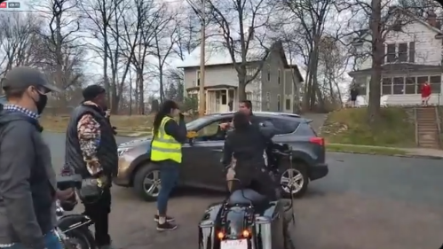 Watch: Driver Taking Into Custody By Police When BLM Bikers Surround His Car Stopping Him From Getting Home, 'I Live Here!'