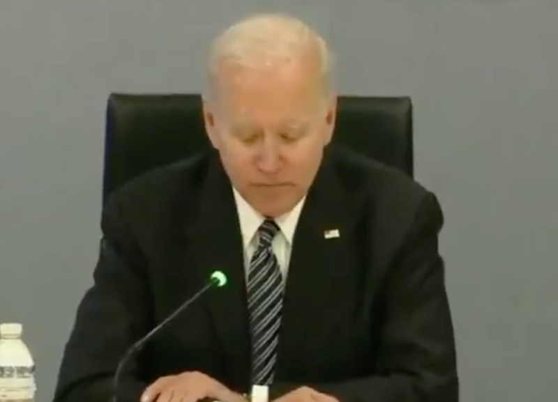 Watch: Biden Is Barely Coherent Mumbles & Can't Read Notes