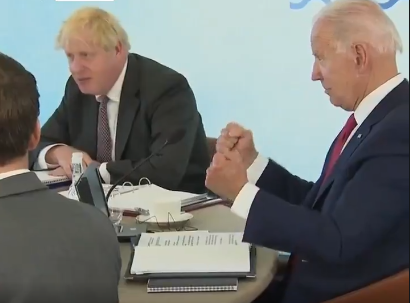 Watch: Biden Was A Walking Disaster At G-7, Scolded By UK Prime Minister After Mental Lapse