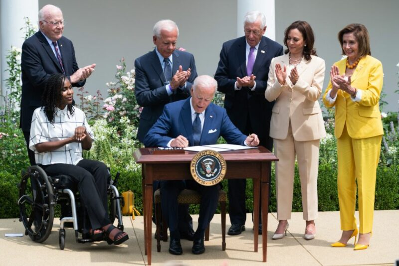 Watch: Biden & Kamala Get Into Spat During Signing Ceremony