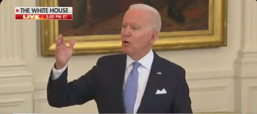Biden Helpless, Lashes Out Because He Can't Answer Question, Starts Yelling 'I Didn't Say That!'
