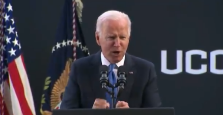 Watch: Emperor Joe Loses It! SMACKS Podium. Can't Take The Backlash Over Mandate